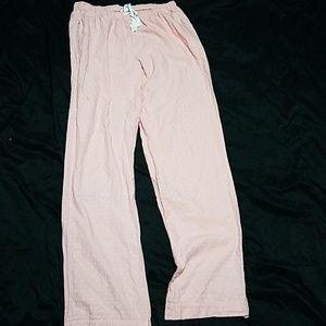 Victoria Secret pink and white pajama pants